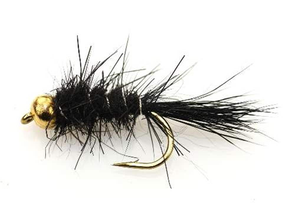 Bead Head (BH) Gold Ribbed Hare's Ear GRHE Black