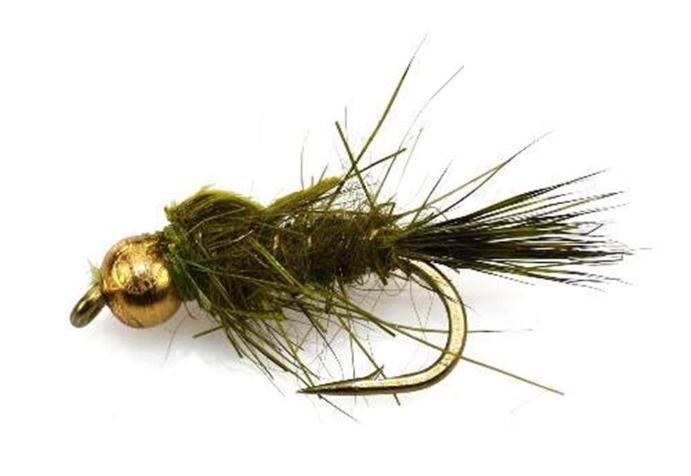 Bead Head (BH) Gold Ribbed Hare's Ear GRHE Olive