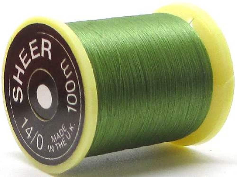 Gordon Griffiths Sheer 14/0 Ultrafine Thread  Green Single Spool
