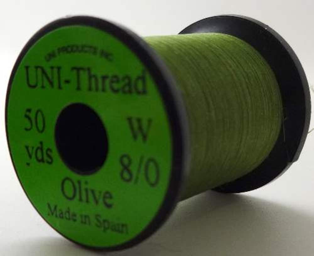 Uni Pre Waxed Thread 6/0 50Y Medium Olive