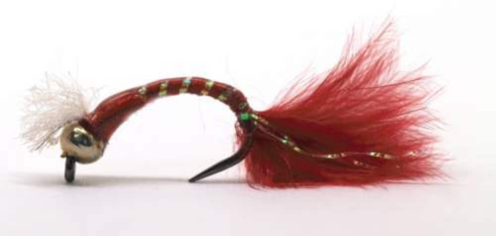 Barbless 3D Glass Epoxy Bead Head Bloodworm Marabou