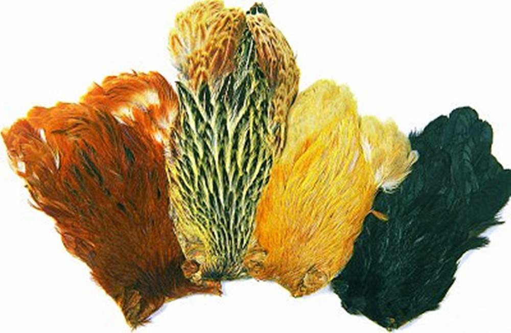 Indian Hen Capes Dyed Colours