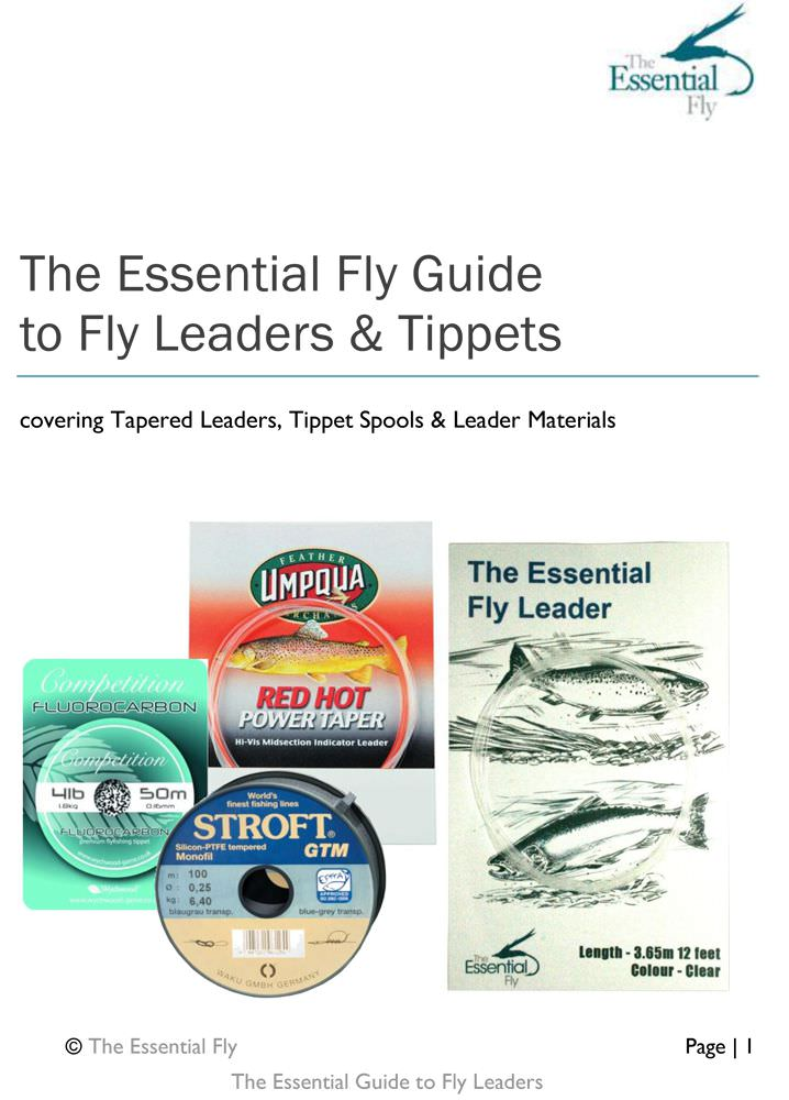 Fly fishing leaders downloadable 30 page booklet tackle for Fly fishing leaders