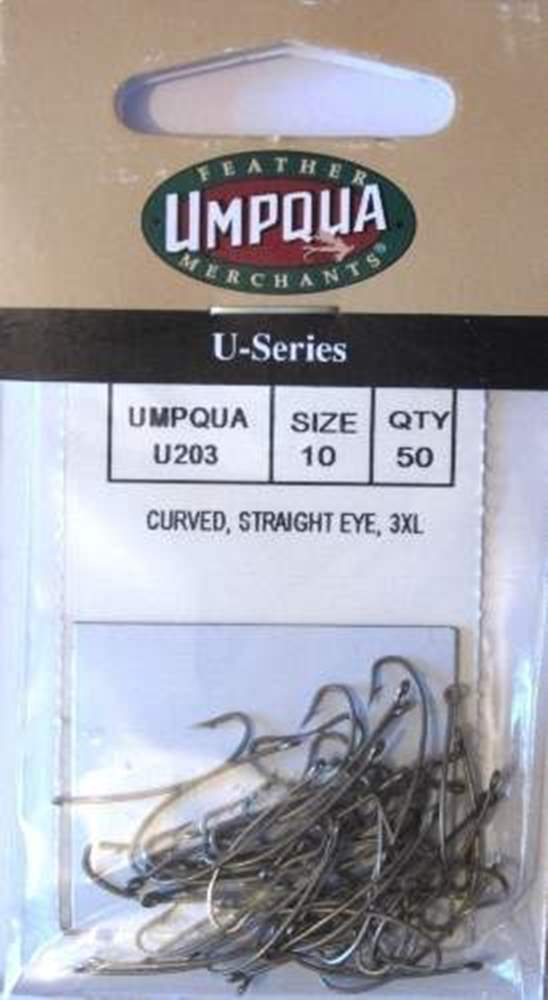Umpqua U203 Size 24 Curved, Straight Eye, 3XL Fly Tying Hooks
