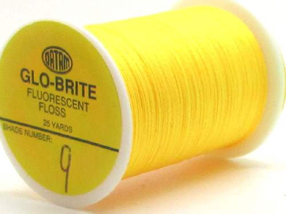 Glo-Brite Floss No 9 Chrome Yellow Single Spool 100 Yards