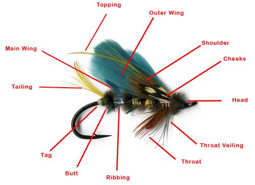 Salmon Fly Pattern Components