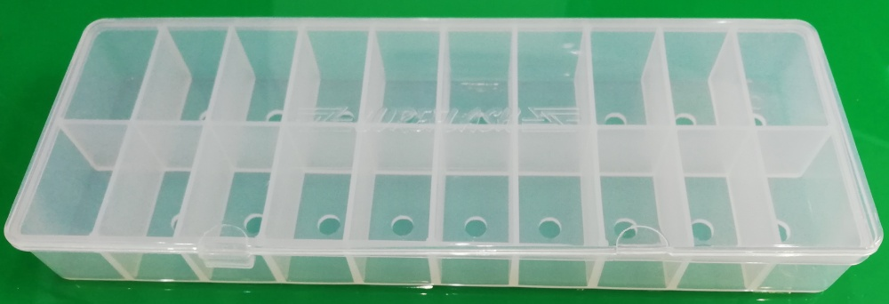 20 Compartment Empty Fly Tying Dubbing Dispenser (210x80x25mm)