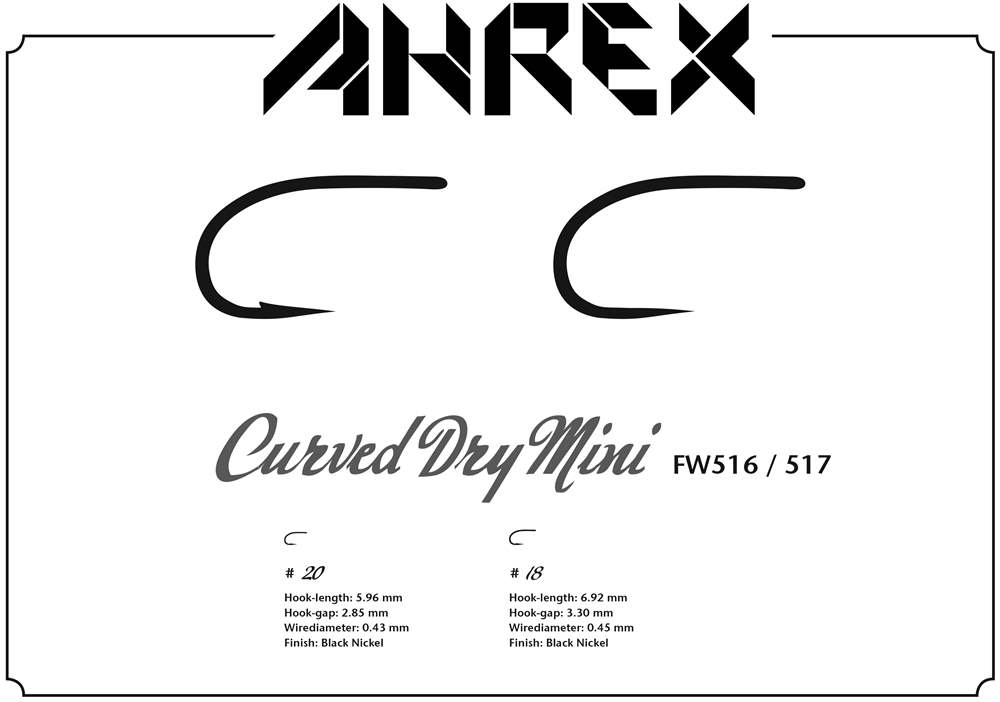 Ahrex FW517 - Curved Dry Mini Barbless #18