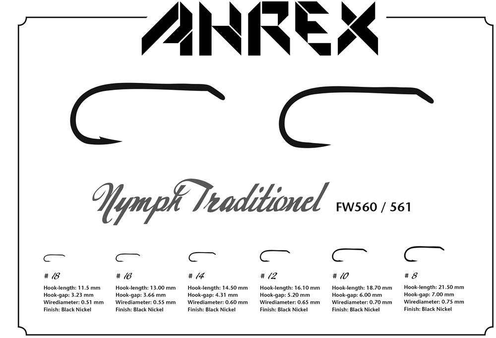 Ahrex FW560 - Nymph Traditional Barbed #12