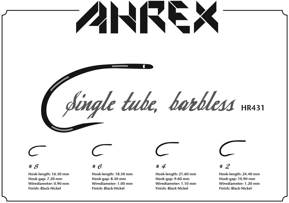 Ahrex HR431 - Tube Single Barbless #2