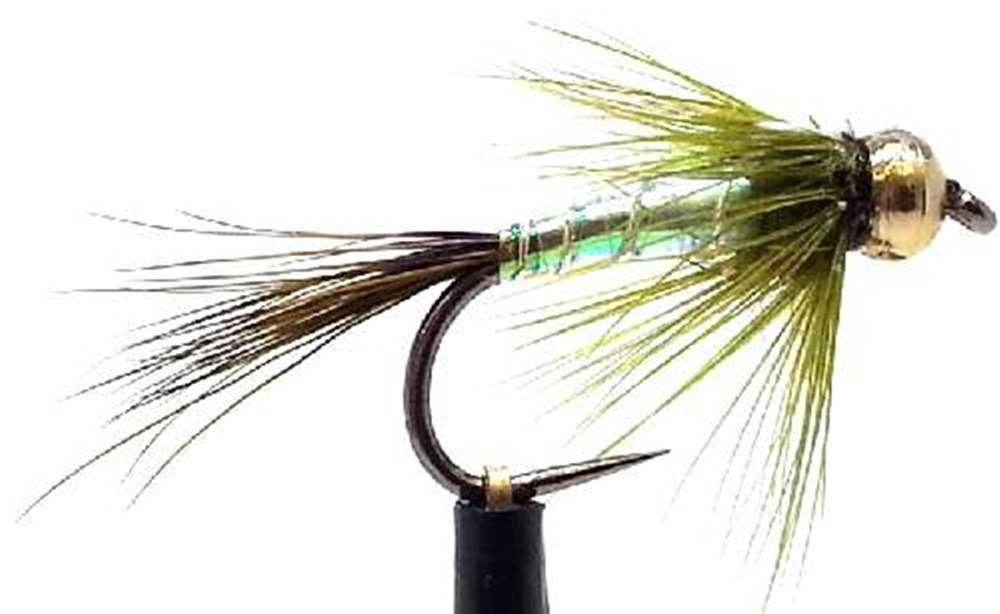 Barbless Bead Head Olive Twinkle