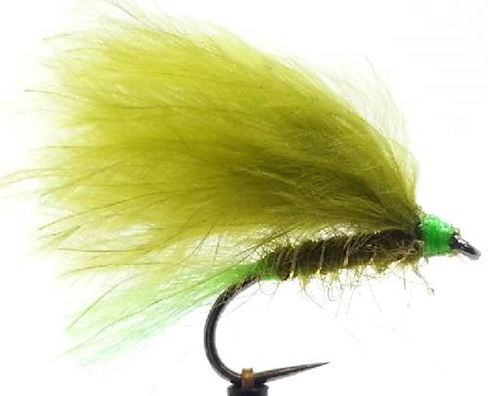 Barbless Olive Hot Tail Mini Lure