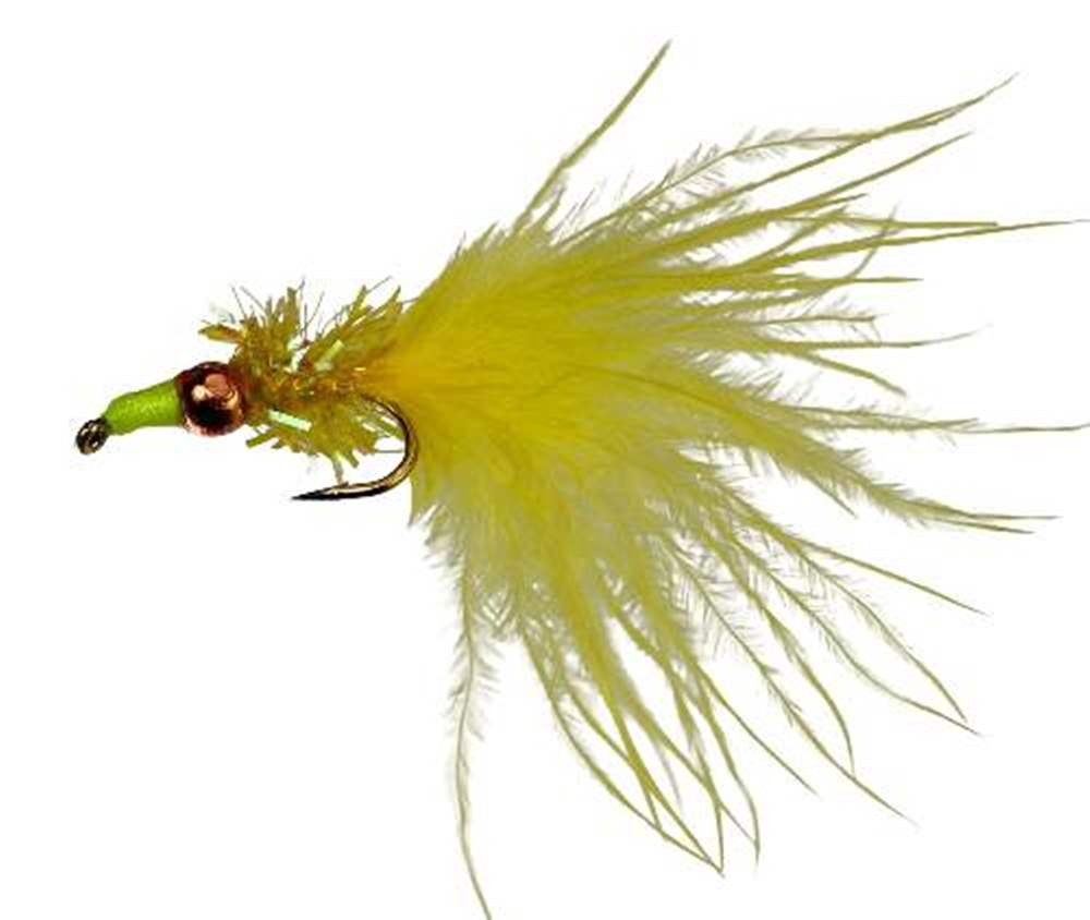 Cjs Fritz Tungsten Bead Nomad Yellow Lure/Streamer