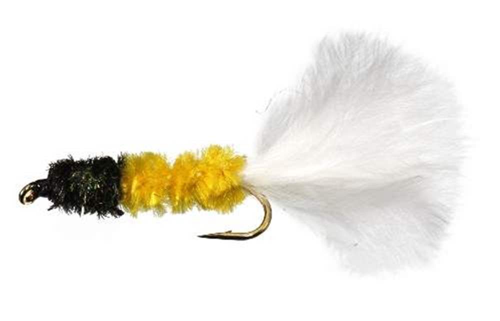 Dog Nobbler Yellow Body & White Tail Trout Lure