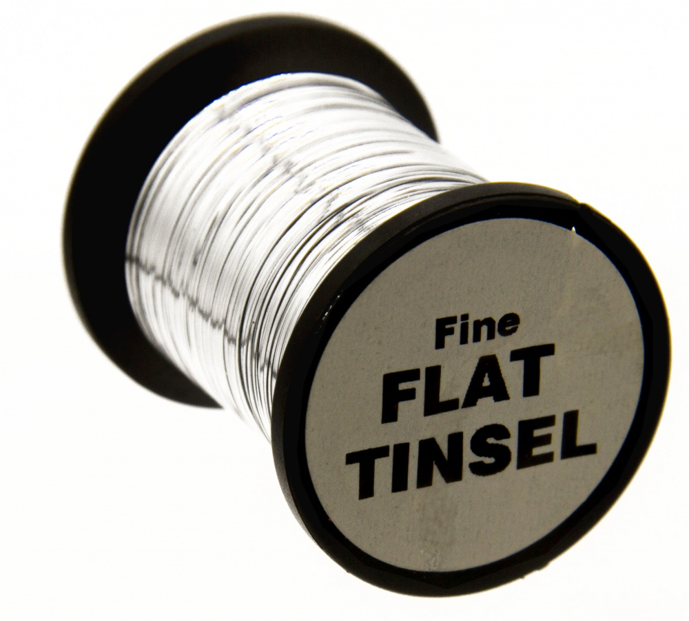 Fly Tying Basic Materials  - Flat Tinsel - Fine - Silver (10 Pack Spools)