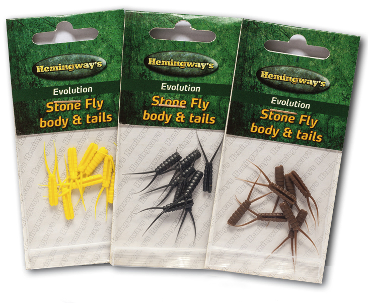 Hemingway's - Evolution Stone Fly Body & Tails - Extra Large - Clear Black