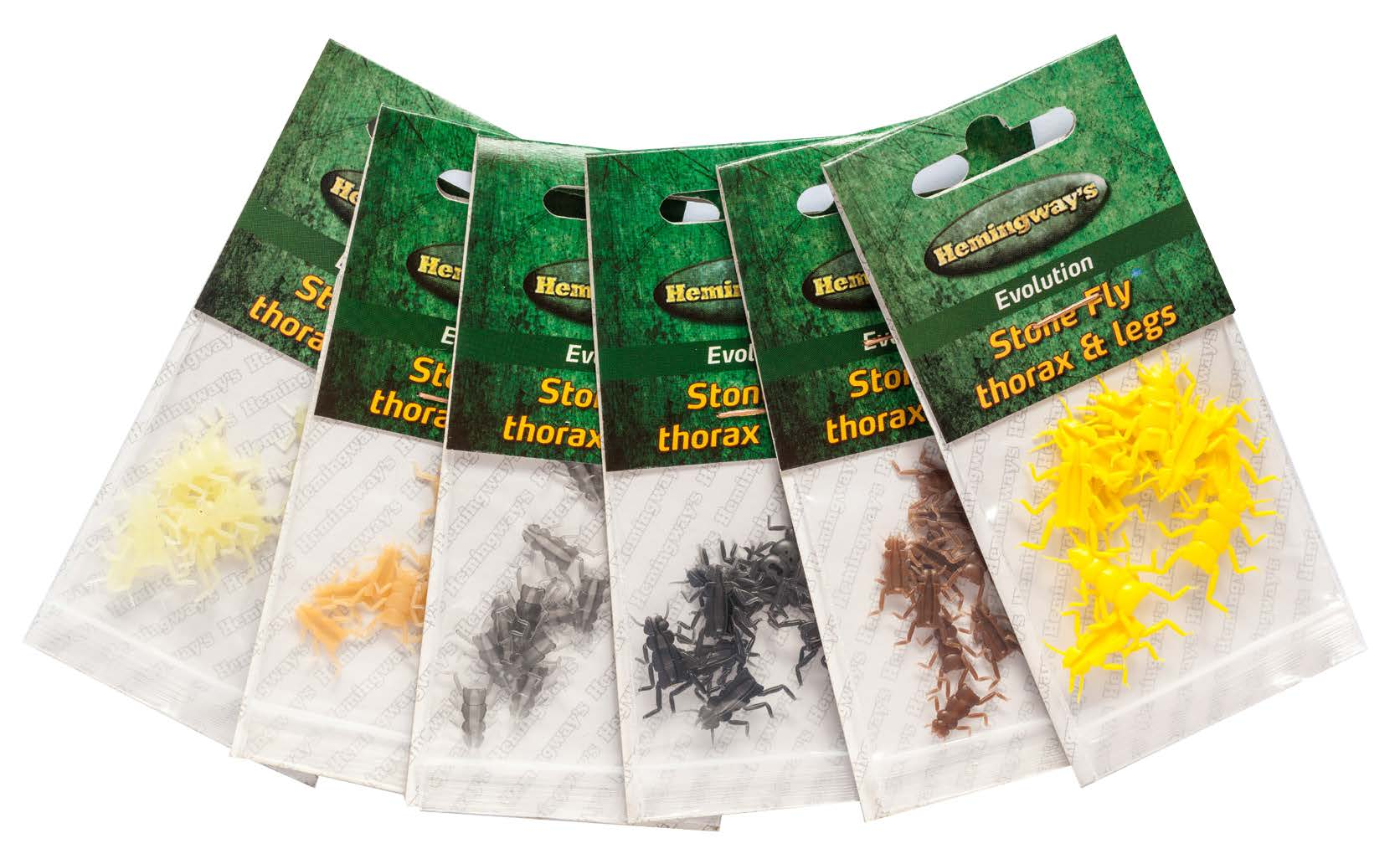 Hemingway's - Evolution Stone Fly Thorax & Legs - Medium - Clear Yellow