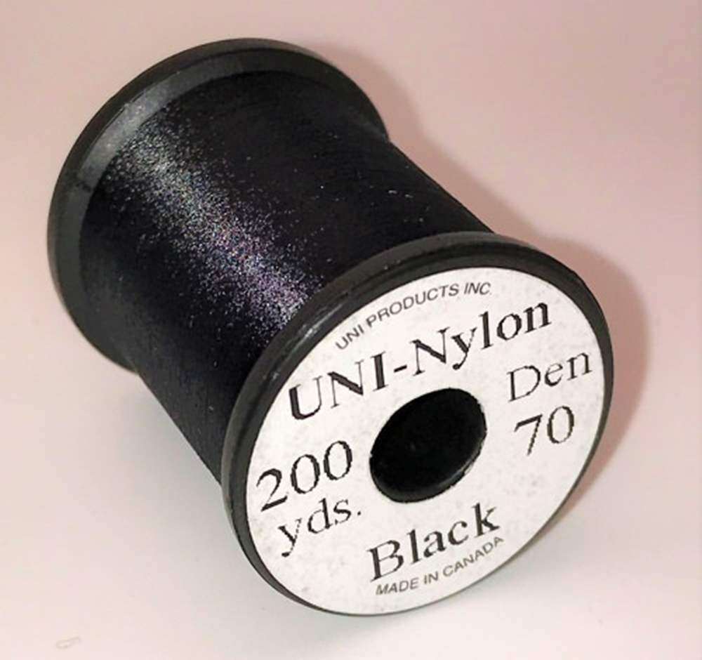 Uni Nylon Extra Strong Thread 70 Denier Black