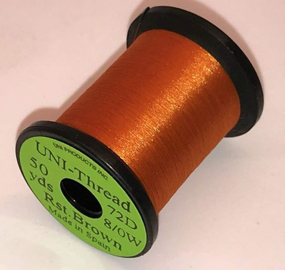 Uni - Pre Waxed Thread - 6/0 - 50 Yards - Rusty Brown