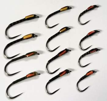 Barbless Traffic Light Buzzer Trout Flies Bundle
