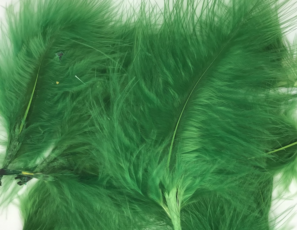Marabou Feathers - Green