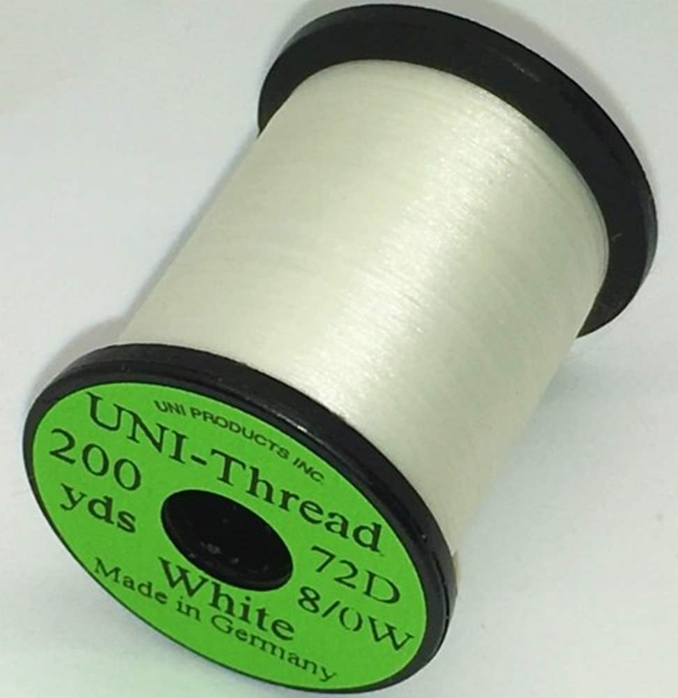 Uni - Super Midge Pre Waxed Thread - 8/0 - 200 Yards - White