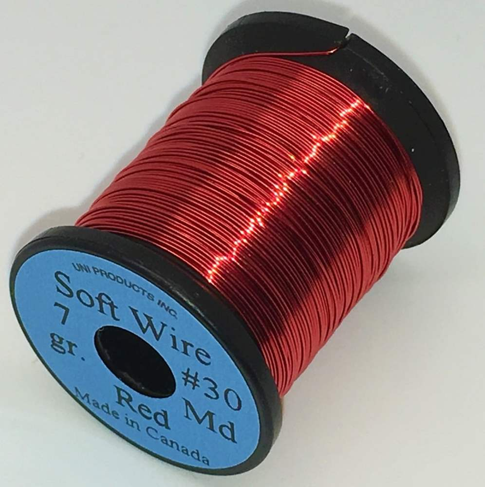 Uni Soft Copper Wire Medium 0.3mm Red