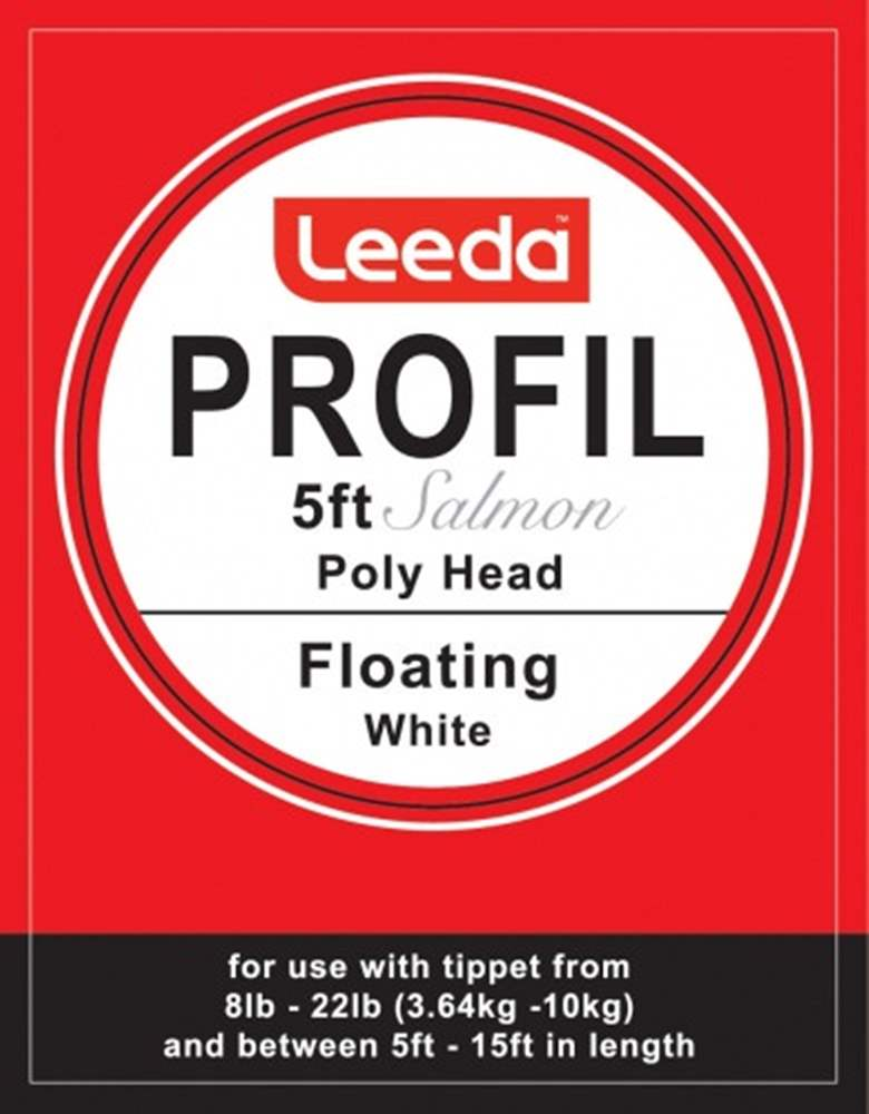 Leeda Profil - Poly Head Salmon Polyleader - 5 foot - (White) Floating