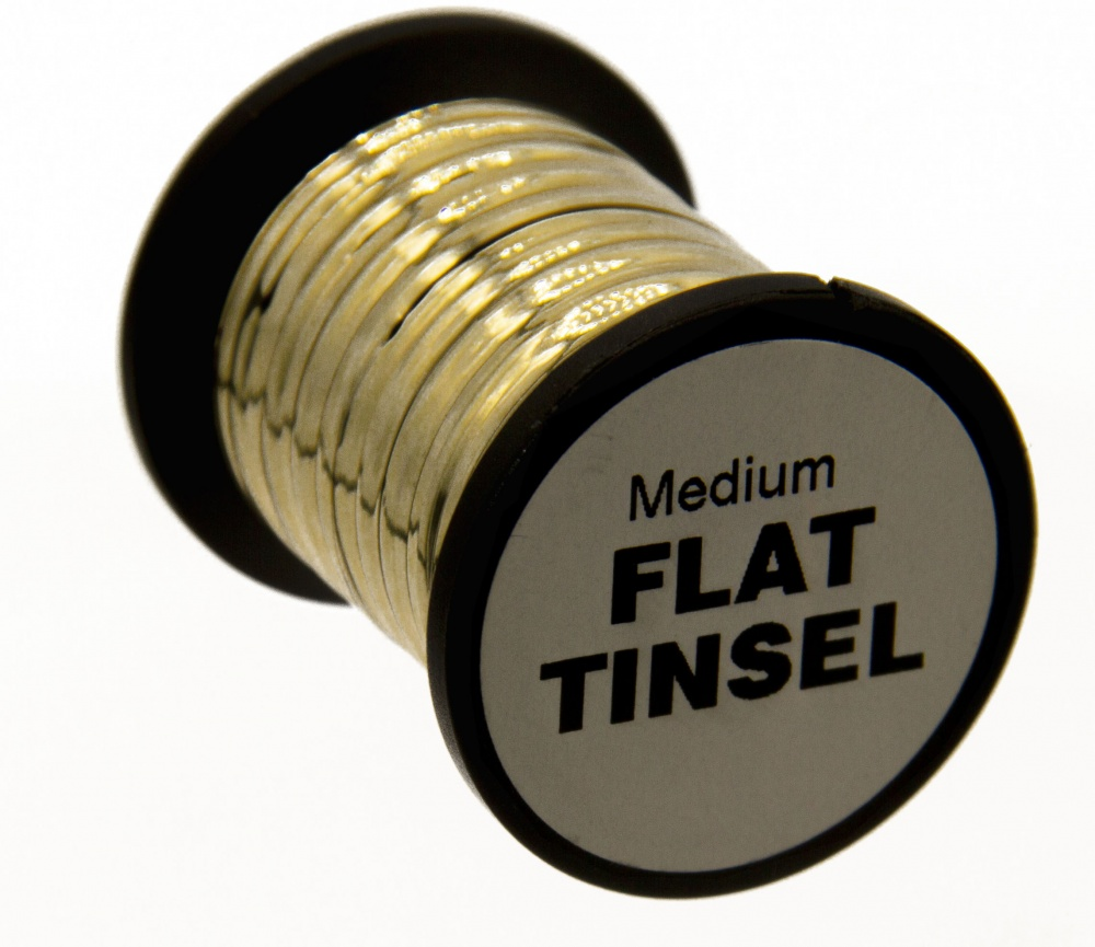 Fly Tying Basic Materials - Flat Tinsel - Medium - Gold