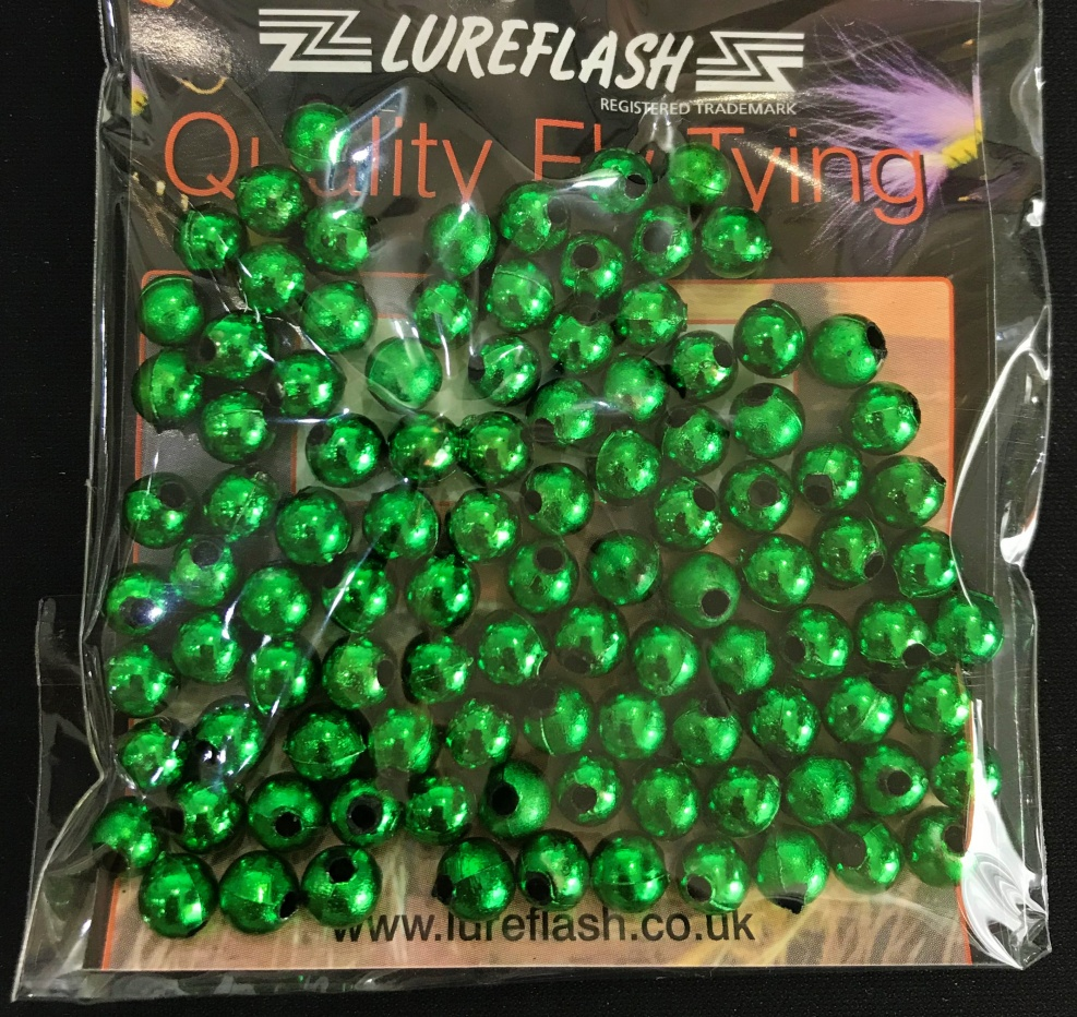 5mm Plastic Attractor Beads - Green (Approx 1,000 Beads) 10 Packs of 100