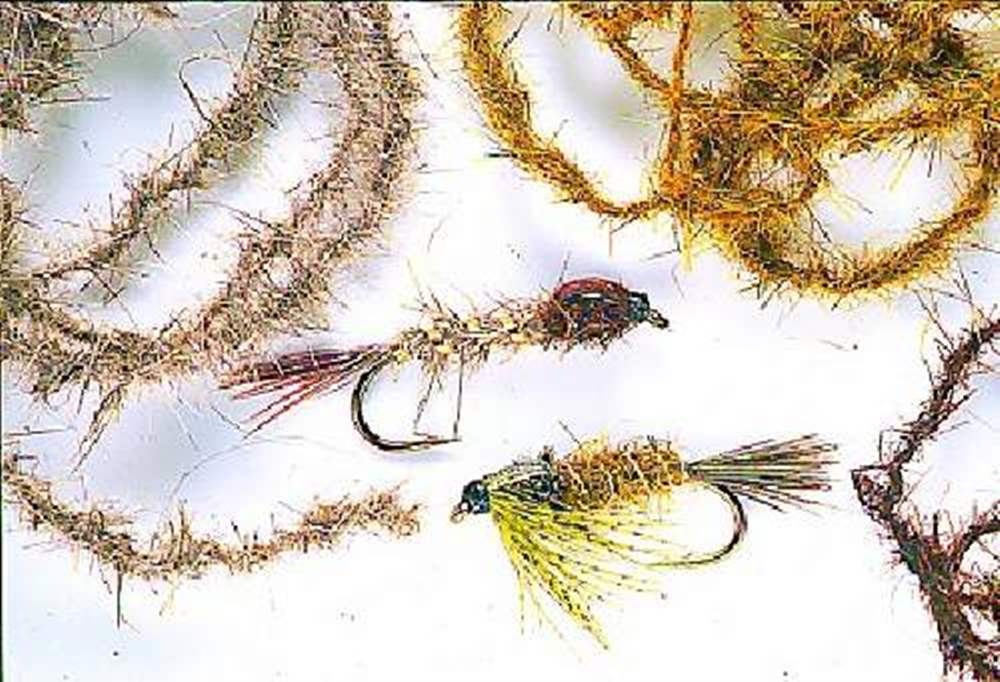 Hares ear twisted on a thread fly tying Soft Twisted Dubbing for Fly Tying