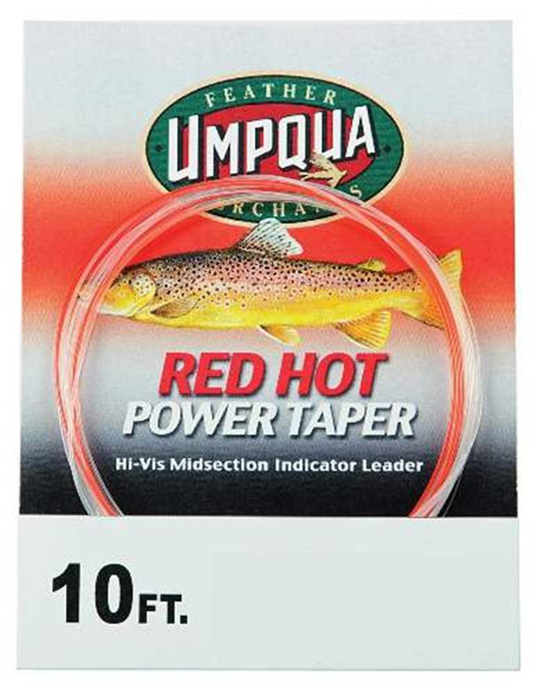 Red Hot Power Taper Tapered Leader 10 4X 6Lb