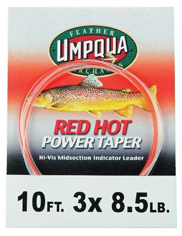 Red Hot Power Taper Tapered Leader 10 3X 8.5Lb