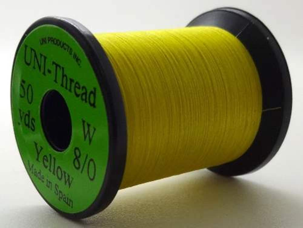 Uni Pre Waxed Thread 6/0 50Y Yellow