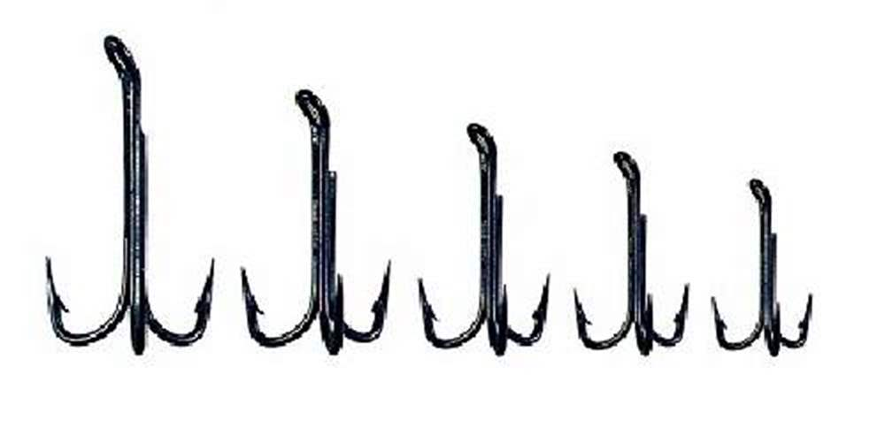 Veniard Hooks - Esmond Drury (Pack Of 100) Black Japaned Treble Hook Size 6