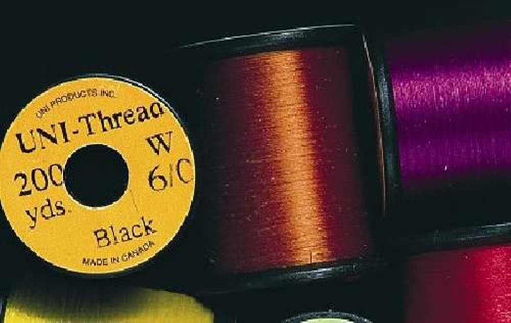 Uni - Super Midge Pre Waxed Thread - 8/0 - 200 Yards - Black