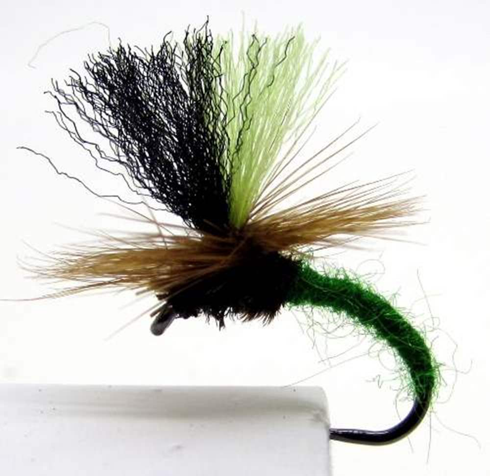 Barbless Klinkhammer Green - Hi Vis Posts Deadly Trout & Grayling Dry Flies