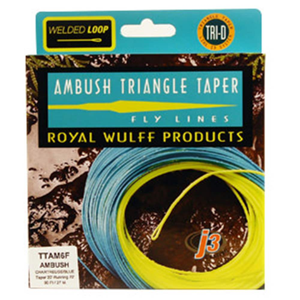 Royal Wulff #15 Weight Ambush Triangle Taper Chartreuse / Blue
