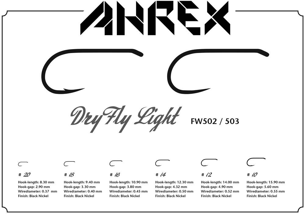 Ahrex FW503 - Dry Fly Light Barbless #14