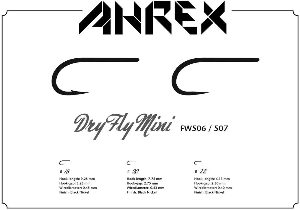Ahrex FW506 - Dry Fly Mini Hook Barbed #18