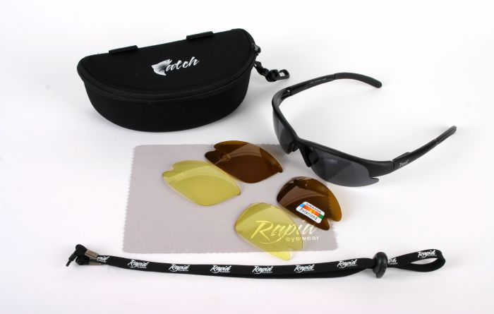 Catchpro Black Polarised Sunglasses