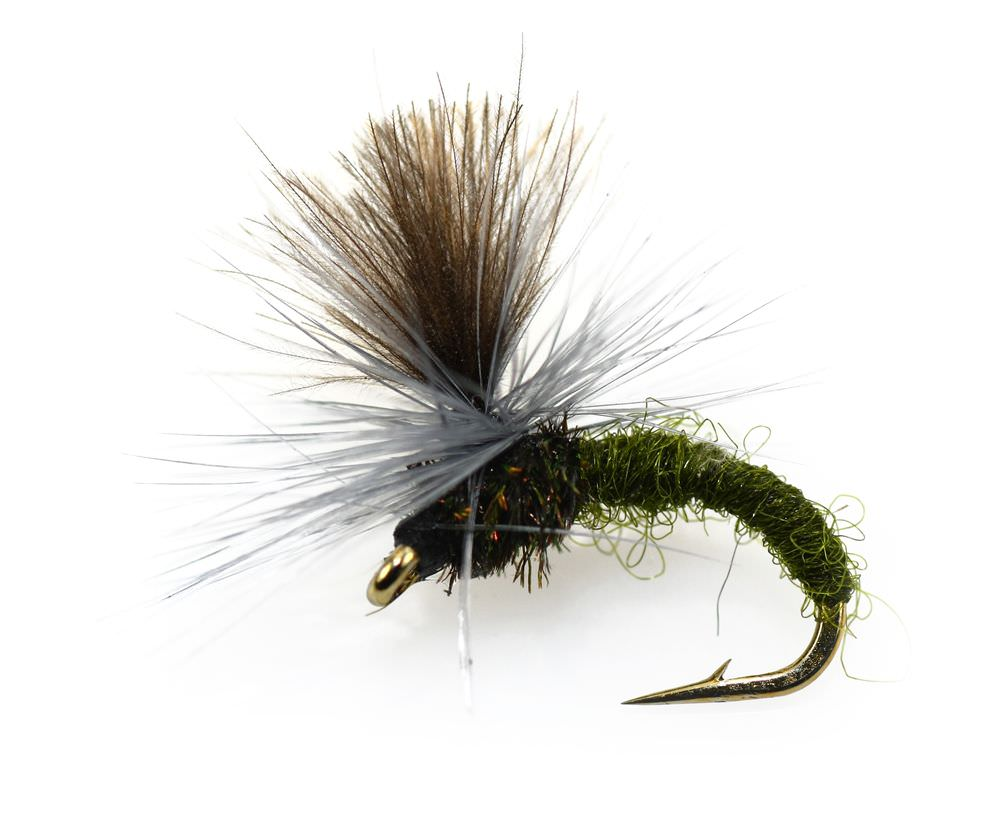 OLIVE YELLOW KLINKHAMMER Dry Trout Fishing Flies various option