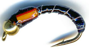 3D Glass Epoxy Bead Head  Buzzer Black