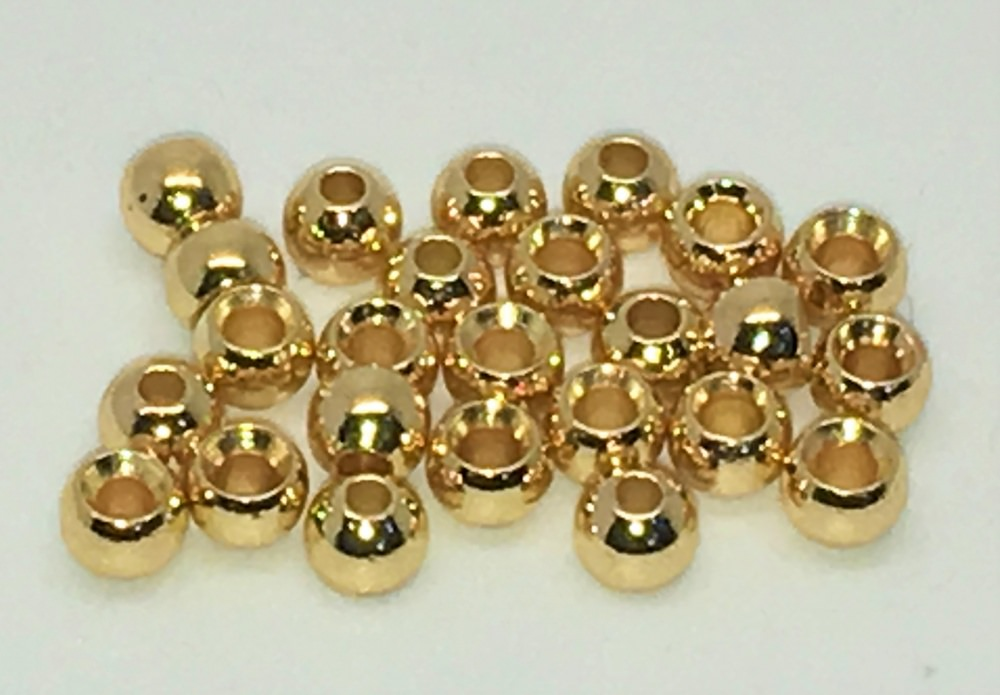 Veniard - Plated Brass Beads - 3.8mm Medium - Gold