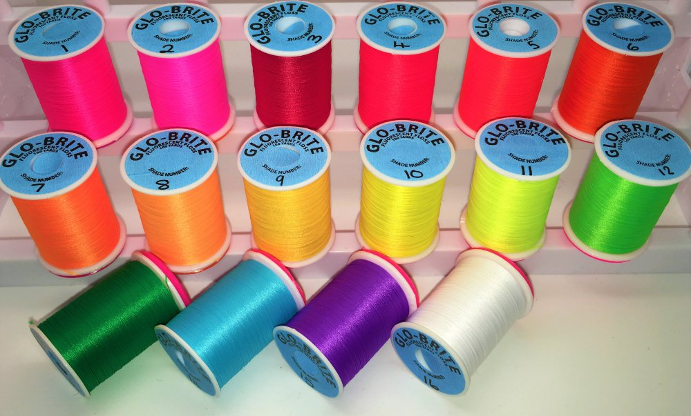Veniard - Glo-Brite Floss - 100 Yards - Mixed Collection