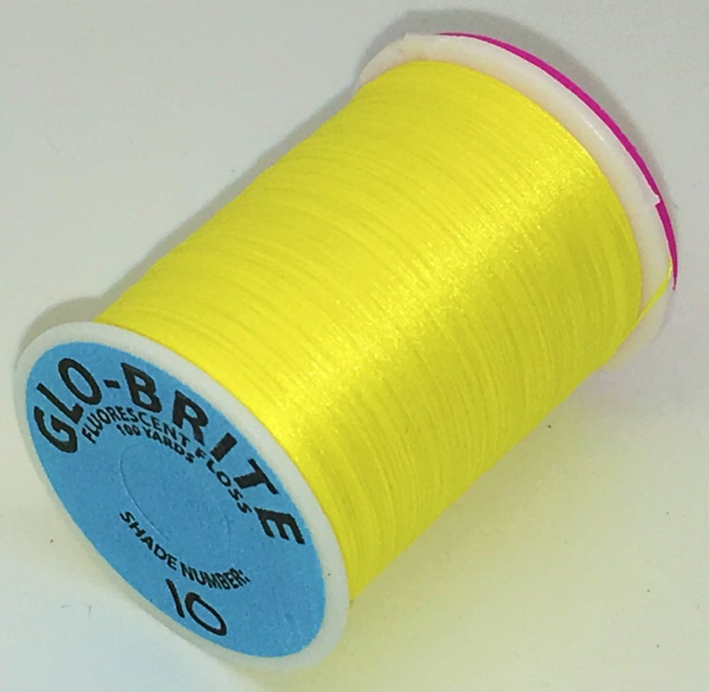 Veniard - Glo-Brite Floss - 100 Yards - Yellow - #10