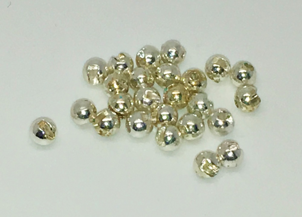 Veniard - Tungsten Beads - Slotted - 3.2mm Small - Silver