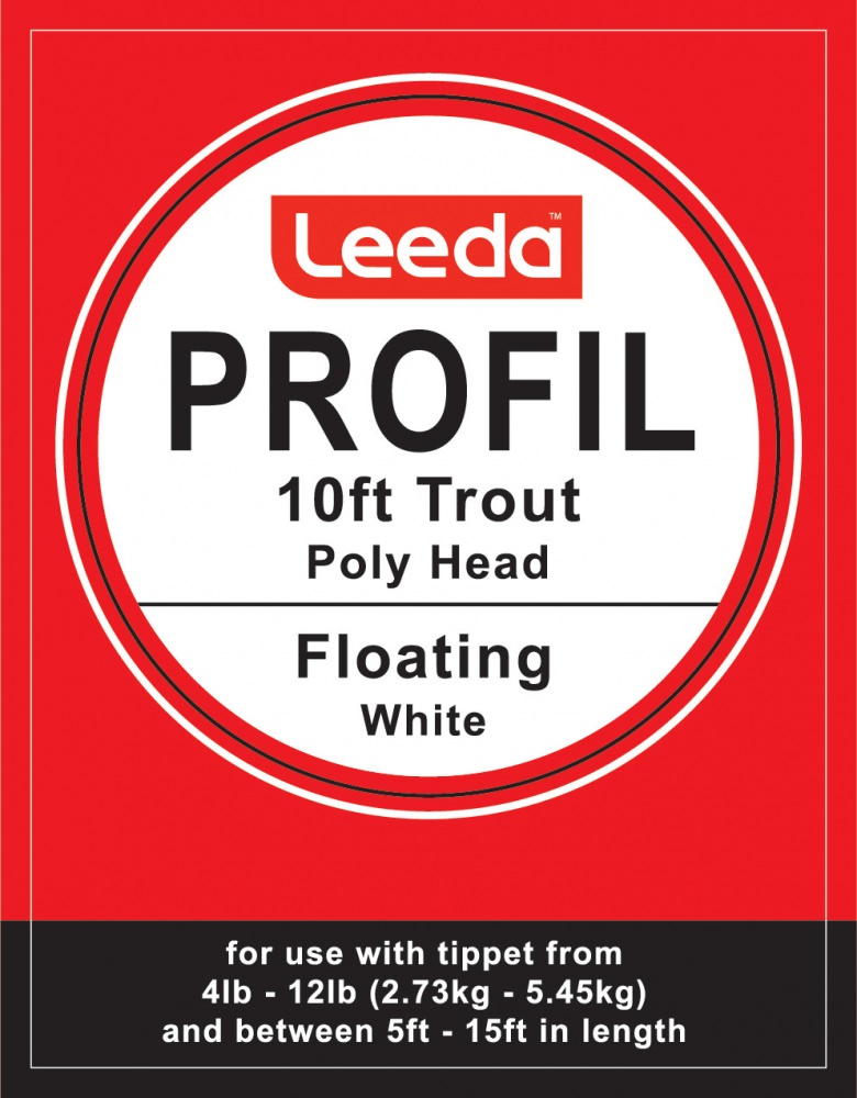 Leeda Profil - Poly Head Trout Polyleader - 10 foot - (White) Floating