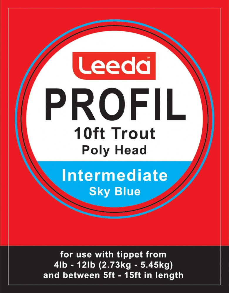 Leeda Profil - Poly Head Trout Polyleader - 10 foot - (Sky Blue) Intermediate