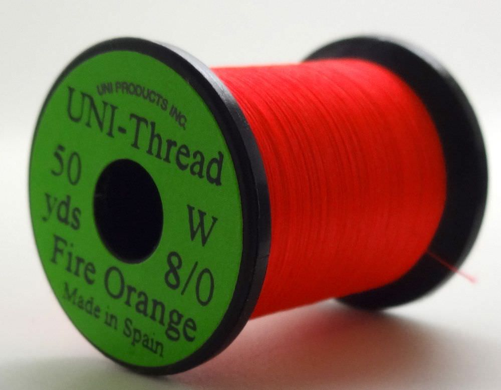 Uni - Pre Waxed Thread - 6/0 - 200 Yards - Fire Orange